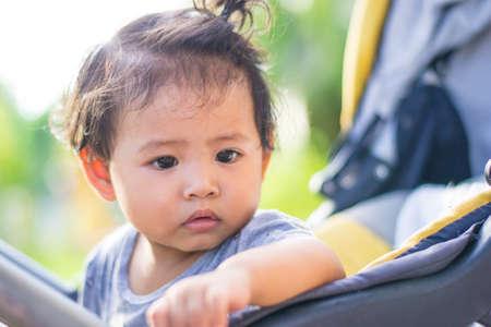 Portrait of infant girl Stock Photo