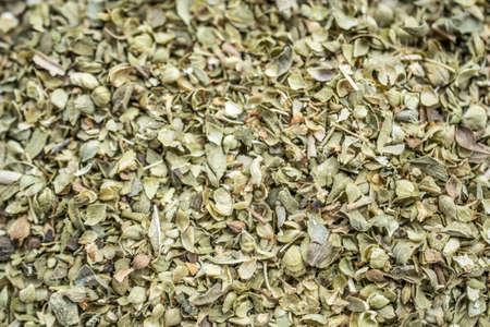 Dried oregano background Stock Photo