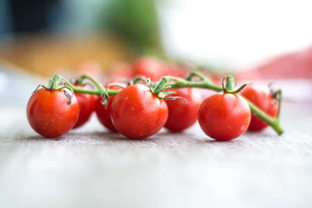 Organic tomatoes Stock Photo