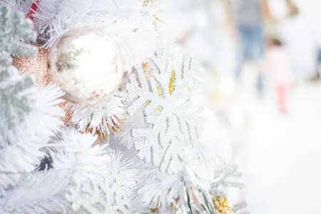 Christmas tree decorated with balls Stock Photo