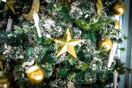 Christmas tree decorated with star