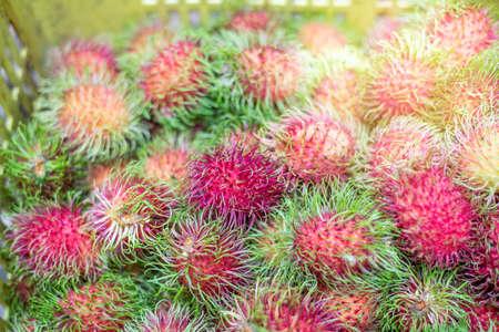 rambutans tropical fruit Stock Photo