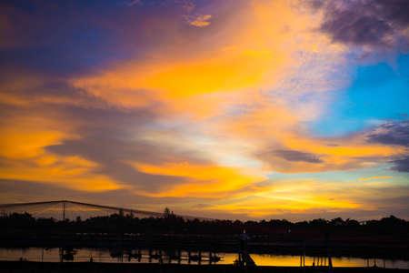 Beautiful Cityscape Sunset twilight period