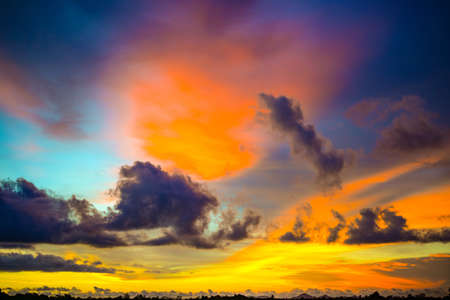 colorful of sky twilight background