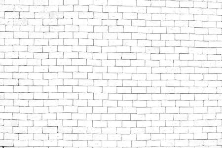 old white brick wall of texture  background