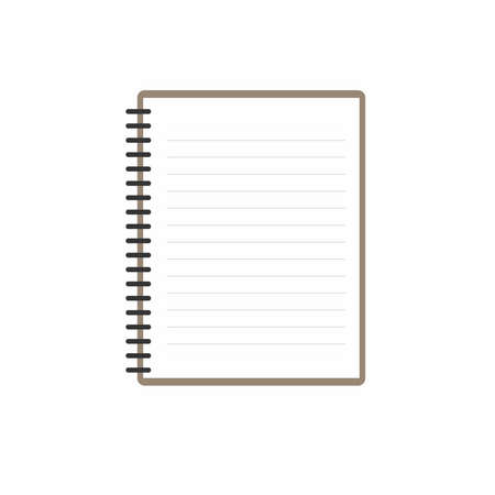 Spiral notebook with Blank white paper Illustration