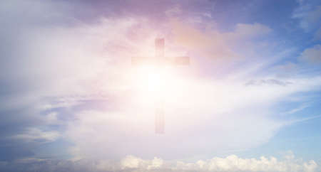 The Cross on the sky background