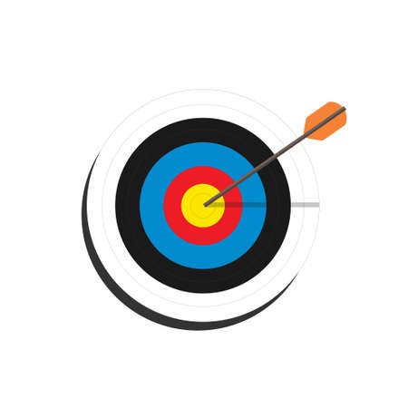 Target with an arrow , Goal achievement concept