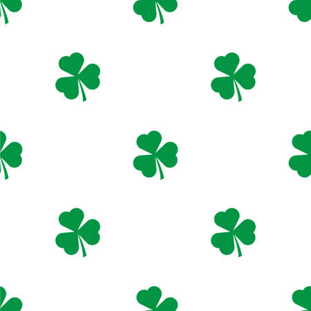 Seamless pattern with Green Shamrock leave background
