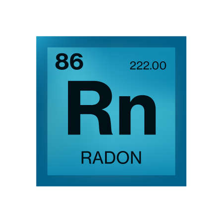Radon element from the periodic table Vector Illustration