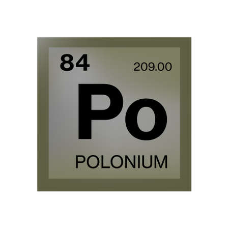 Polonium element from the periodic table Illustration