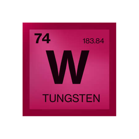 Tungsten element from the periodic table Иллюстрация