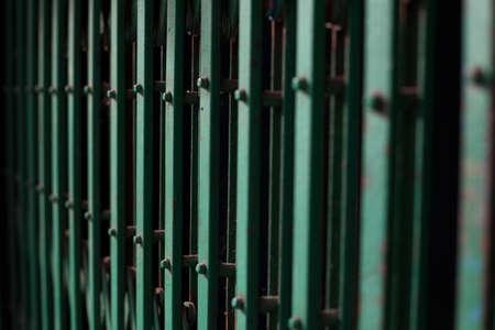 Green Steel Door Stock Photo - 17244145