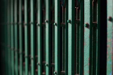 Green Steel Door Stock Photo - 17244143