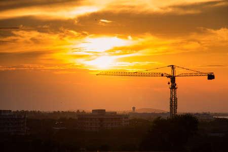Crane before sunset Stock Photo - 17233804