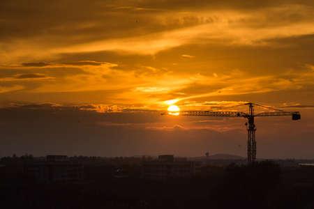 Crane before sunset Stock Photo - 17233806