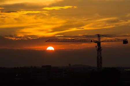 Crane before sunset Stock Photo - 17233803