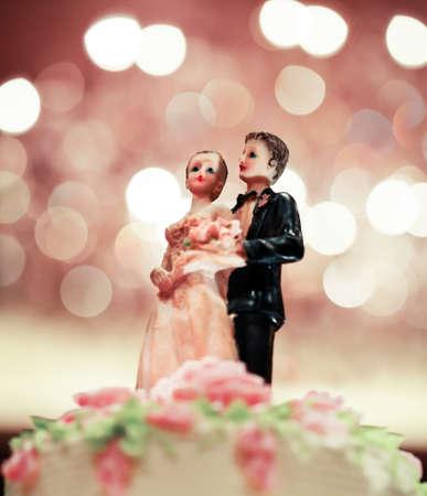 wedding doll on cake