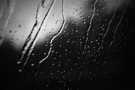 Rain on mirror
