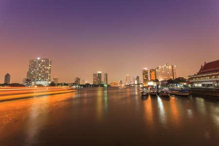chao praya: Night Scenes Chao Praya,Thailand
