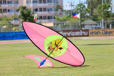 Pattani - MARCH 9- Many Fantasy kites in the International Kite Festival on May 30, 2014 in Rainbow Stadium, Pattani, Thailand Editorial