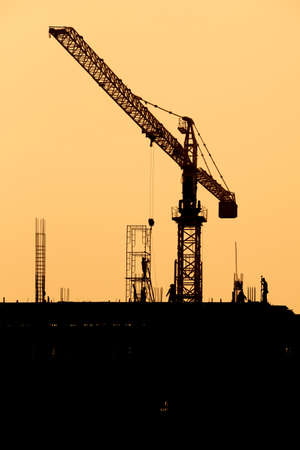 Silhouette of  Construction Site.