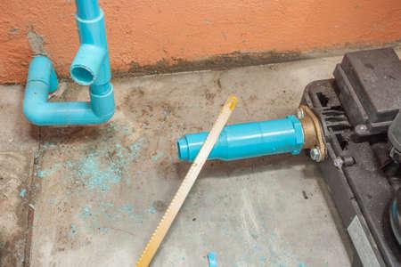 Work on Repair Pipe. photo