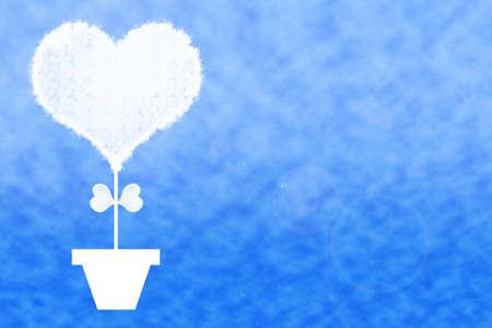 Cloud Heart Shape. Stock Photo
