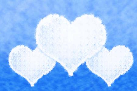 Cloud Heart Shape. photo