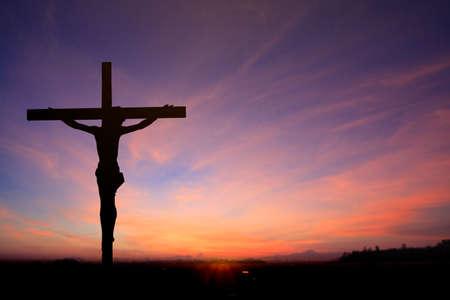 Jesus on the cross blur background
