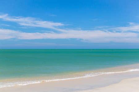 Blue Sky Beach in Summer Season.
