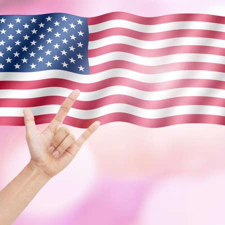 Love America. Stock Photo