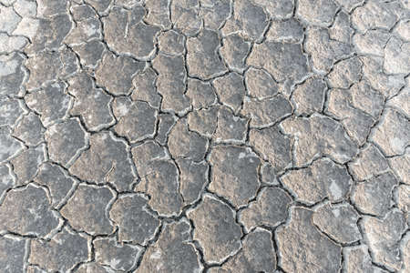 extreme heat: crack earth texture. barren environmental global extreme nature ground heat damage land parched abnormal disaster Stock Photo