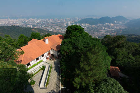 Top view of Georgetown, Penang Island, Malaysia Look from top of Penang hill.