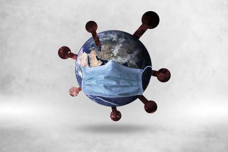 World mask protect Corona virus on background