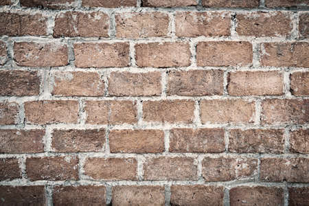 Abstract red brick wall texture light gray old stucco and vintage brickwork pattern background in home interior, grunge rusty blocks of stonework grey color panoramic wide wallpaper