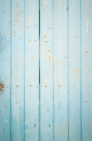 Turquoise beach wall groove wood texture over blue light natural color background Art plain simple wooden floor grain teak old panel seamless backdrop board detail streak finishing for white space 免版税图像