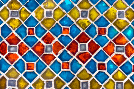 real colourful tile background wall