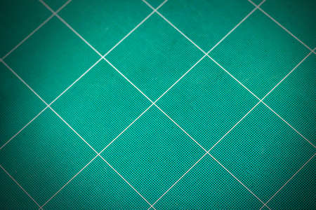 used: used green cutting mat  background Stock Photo