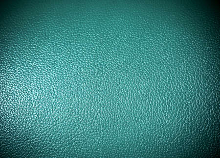 texture leather: green leatherette Surface texture as background grung texture Stock Photo