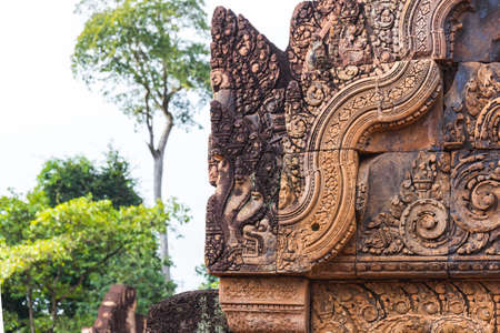 Amazing Temple  Ancient Bayon castle, Angkor Thom, Siem Reap, Cambodia