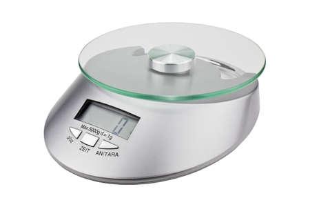 maschine: Digital-Kücheskala getrennt auf weißem Hintergrund