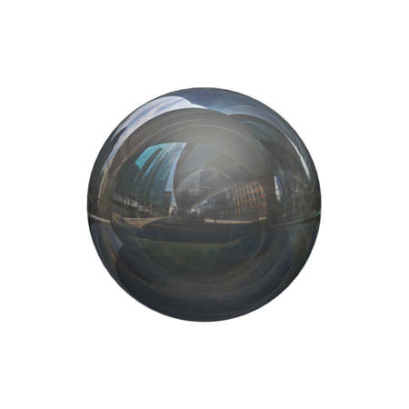 mirro: Mirror sphere on a white background Stock Photo