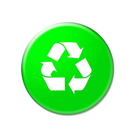 wastes: Glossy green recycle internet button illustration