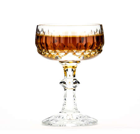 Crystal glass of brandy,isolated Stock Photo - 13089171