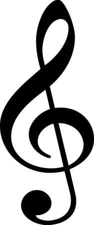 音樂高音譜號標誌的說明 向量圖像