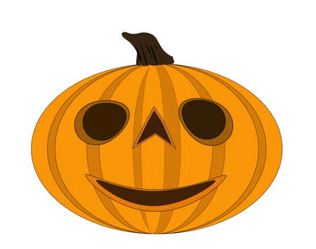 Halloween pumpkin  illustration isolated over white background jack o lantern  Vector