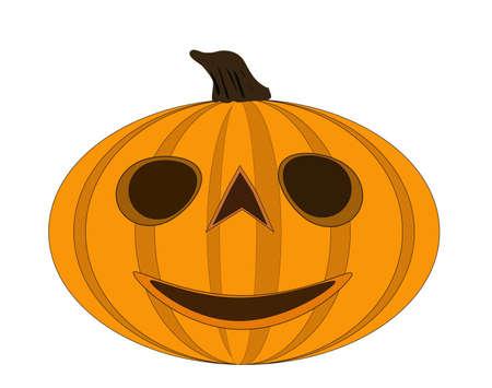 devi: Halloween pumpkin  illustration isolated over white background jack o lantern