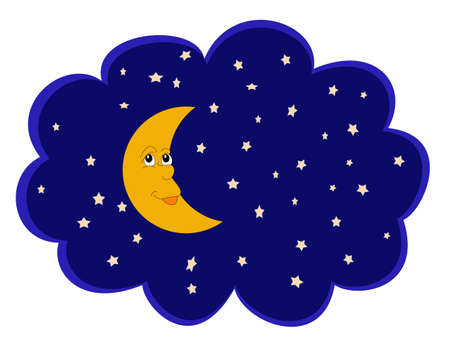 moon night: Moon  and stars