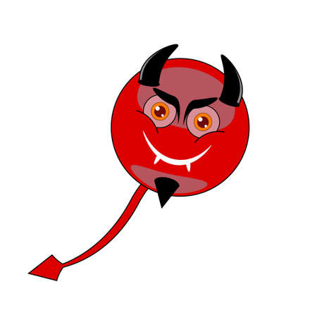 Devil emoticon,vektor Isolated  Vector